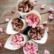 Chocolate popcorn — Stock Photo