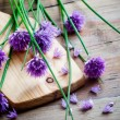 Bunch of fresh flower chives — Stock Photo #27603029