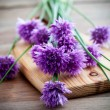 Bunch of fresh flower chives — Stock Photo #27603073
