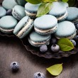 Stock Photo: Blueberry macaroons