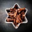 Chocolate curls — Stock Photo
