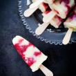 Homemade popsicles — Stock Photo