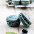 Blueberry macaroons — Stock Photo #34353667