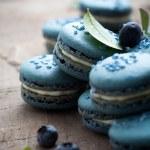 Blueberry macaroons — Stock Photo