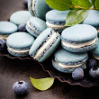 Blueberry macaroons — Stockfoto