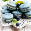 Blueberry macaroons — Stock Photo #34353773