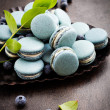Blueberry macaroons — Stock Photo #34353821