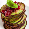 Spinach pancakes — Stock Photo #44124699