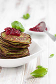 Spinach pancakes — Stock Photo
