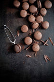 Chocolate macaroons — Stock Photo