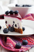 Blueberry cheesecake — Stock Photo