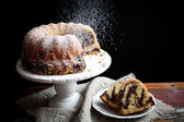 Marble bundt cake — Stock Photo