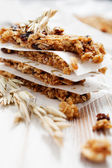 Homemade granola bars — Stock Photo
