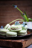 Green macaroons — Stock Photo