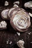 Meringue rose — Stock Photo