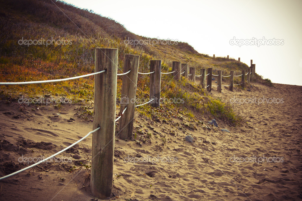 A vintage shot of a trail to the beach — Stock Photo #14073392