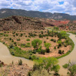 A dirty river through New Mexico — Foto Stock
