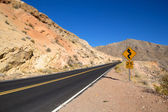 Road towards At the Valley of Fire State Park — Stock Photo
