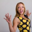 Young woman making a funny face — Stock Photo