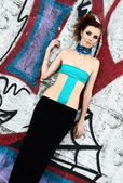 Futuristic fashion model — Stock Photo