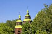 Old wooden church, Pirogovo, Kiev, Ukraine — Stock Photo