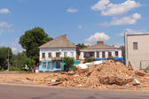 Urban renewal in the city centre. Berdychiv, Ukraine — Stock Photo