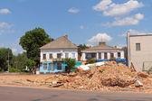Rinnovamento urbano nel centro della città. berdychiv, ucraina — Foto Stock