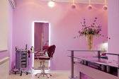 Interior of luxury hair salon — Stock Photo