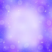 Purple christmas background with snowflakes — Stock Photo