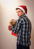 Greedy man - Santa Claus — Stock Photo
