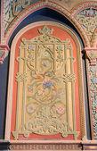 Zdobené zdi v paláci — Stock fotografie