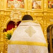 Close up of orthodoxal priest  in church — Foto Stock