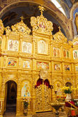 Iconostasis in orthodox church — 图库照片