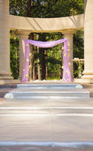 Beautiful wedding gazebo in columns — Stock Photo