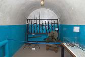 Guns in military bunker — Stock Photo