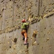 Rock climber climbing up — Stock Photo