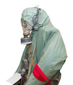 Protective military chemical warfare suit — Stock Photo