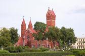 Red Chapel in Minsk, Republic of Belarus — Stock Photo