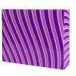 Purple gift box with ornament isolated — Zdjęcie stockowe
