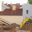 Renovation Work in Old Yard. Minsk, Belarus — Stock Photo