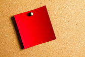 Red post-it — Stock Photo