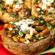 Stock Photo: Stuffed mushroom