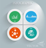 Abstract 3D infographic vector illustration — Stock Vector