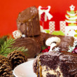 Stock Photo: Yule Log Cake