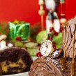 Yule Log Cake — Stock Photo