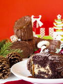 Yule Log Cake — Stock Photo