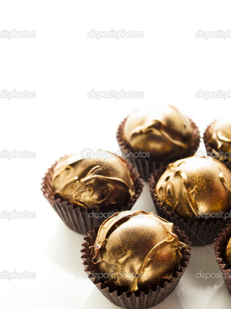 Gourmet champagne truffles derorated for New Year Eve celebration. — Stock Photo #15054873