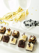 Assorted petite party pastries — Stock Photo