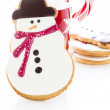Snowman cookie — Stockfoto