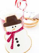 雪人 cookie — 图库照片